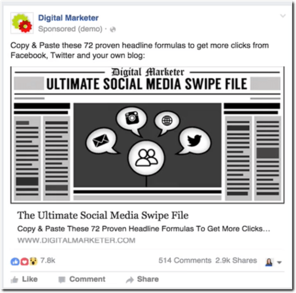 Free Actionable ContentDiscover In This Blog Post From My Friends - Digital marketer facebook ad template