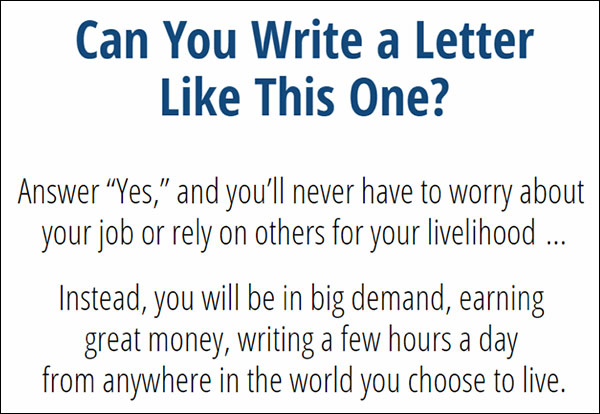 Opening to AWAI's Can You Write a Letter Like This One? persuasive sales letter