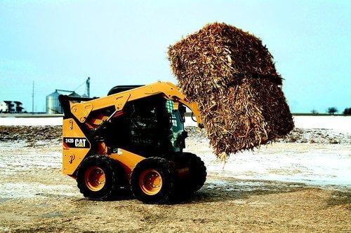 Bulldozer carrying soil