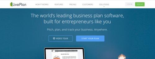 LivePLan webpage screenshot