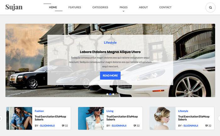 Sujon - Blog HTML Template Website Template