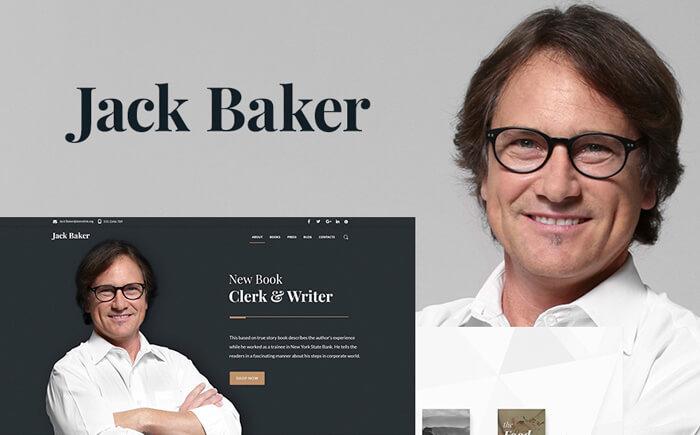 Books Author WordPress Theme