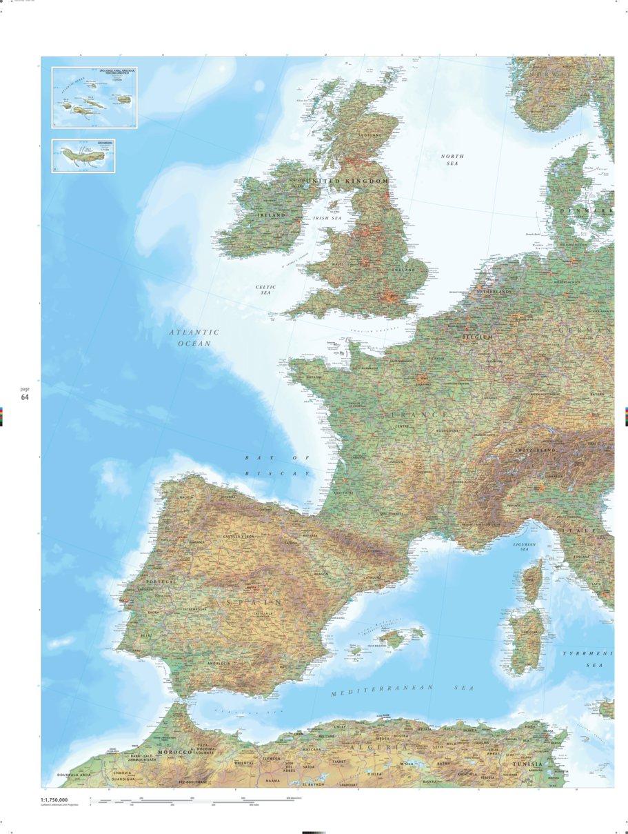Western Europe Earth Platinum Pg 64 Millennium House Avenza Maps