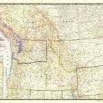 Northwestern United States Canadian Provinces 1950 National Geographic Avenza Maps