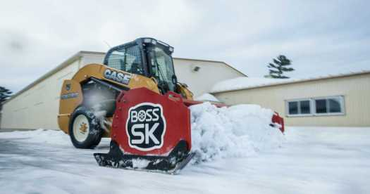 SK Box Plows from Boss are designed to put the full force and maneuverability of a skid steer into getting the pavement back to black. Now available in a 12-ft. model.