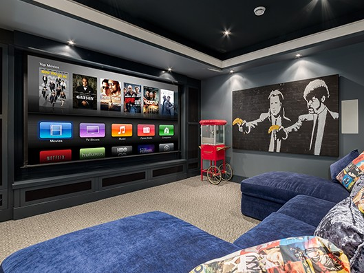 winning home theater sets mood with