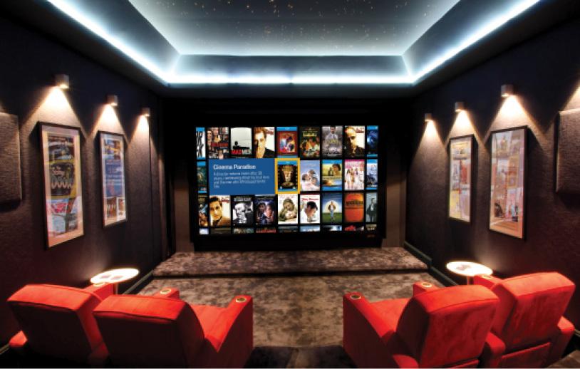 marvelous media room illumination