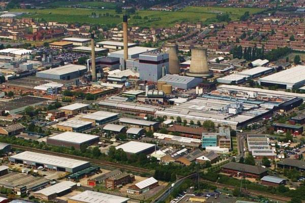"""Aerial View of Slough Trading Estate"" by Sloughmani"
