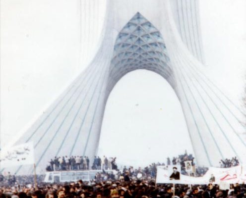"""""""Asura demonstration in freedom square, Tehran, during 1979 Iranian revolution"""" by Unknown"""