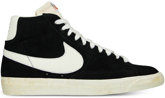 Nike Blazer Noir Blanc Haute
