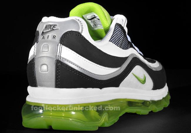 nike air max 24/7 white/black/lime green