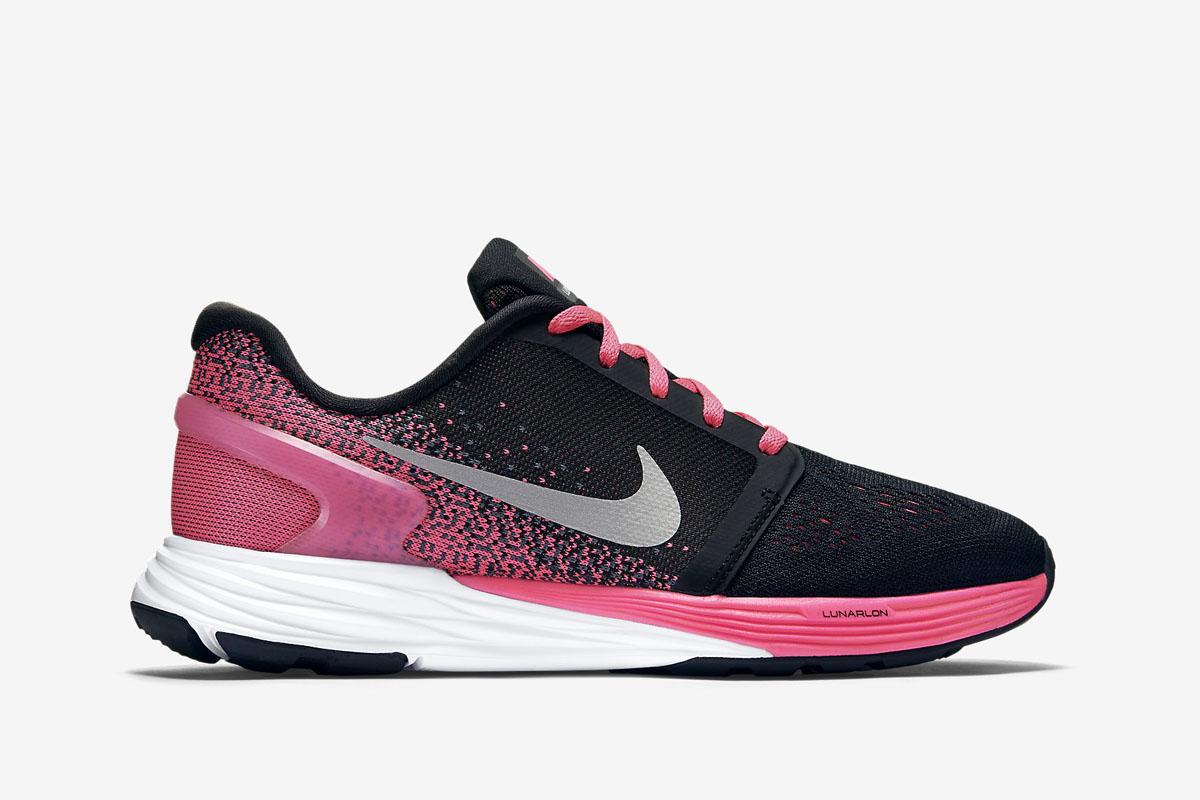 Nike Lunarglide 7 Knit Jacquard (GS) Pink Pow Black