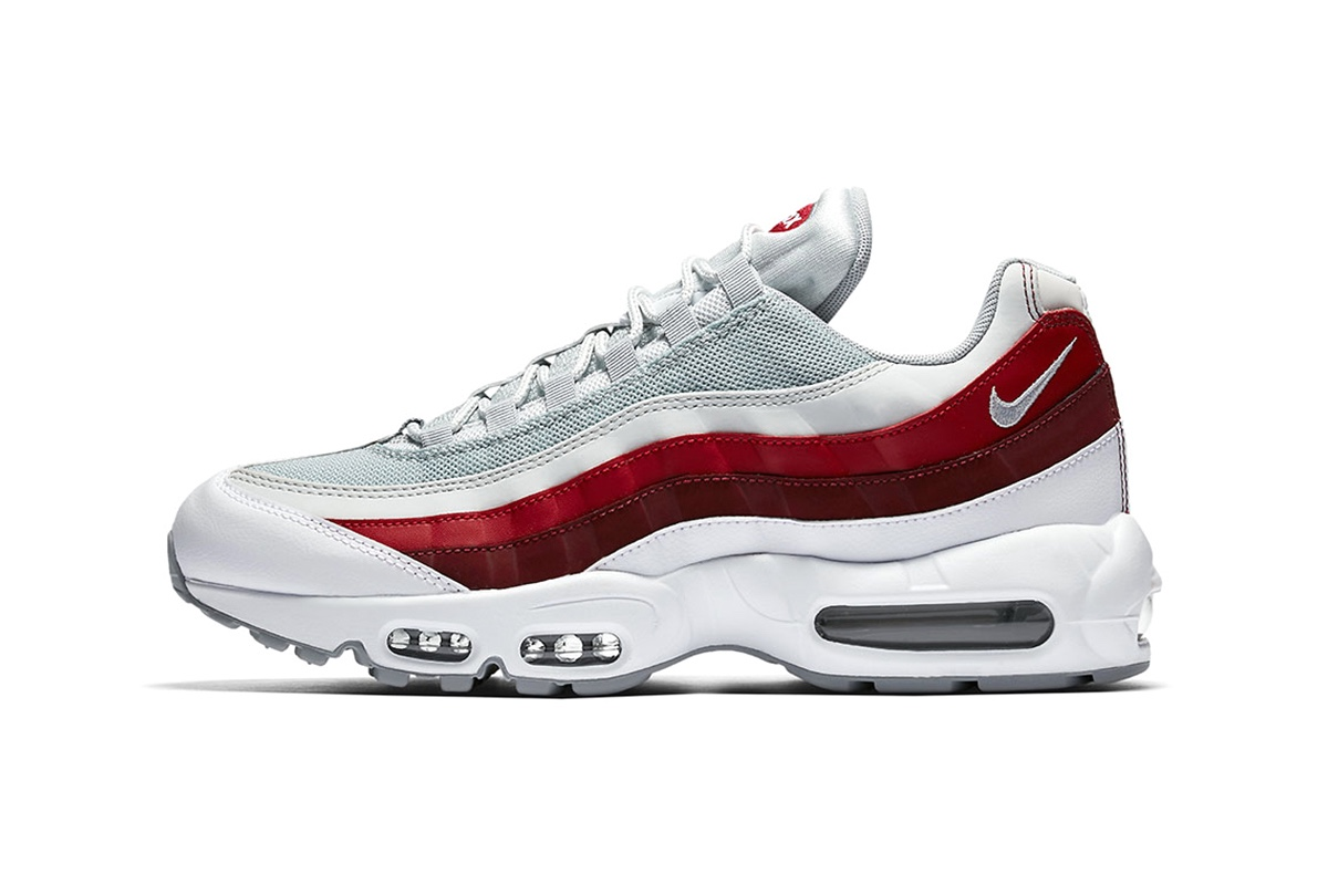 huge selection of bd536 ee68c ... reduced preview nike air max 95 in wolf grey team red 16dc9 84893