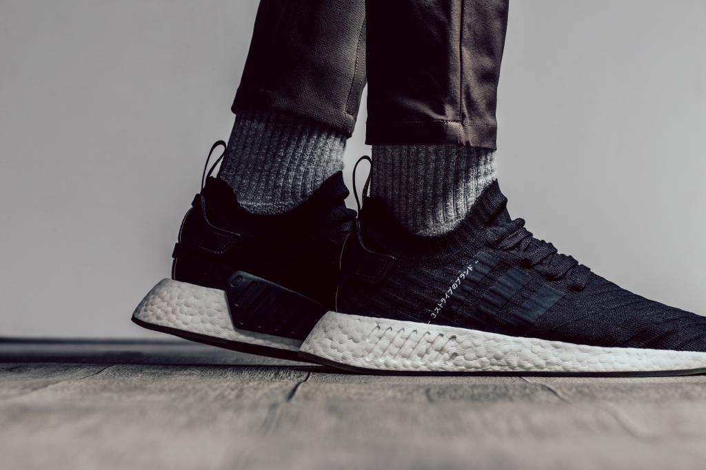 yeezy boost 350 v2 on feet black white nmd adidas women grey