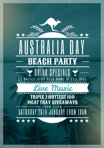 The Aussie Lineup Australia Day Event Promotion Template