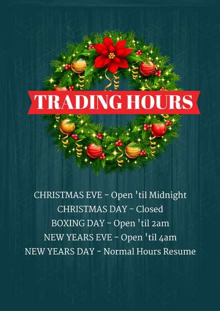 Christmas Festive Period Trading Hours Easil