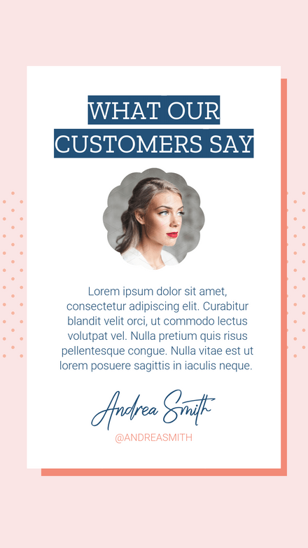 What Our Customers Say Testimonial Template With Scalloped