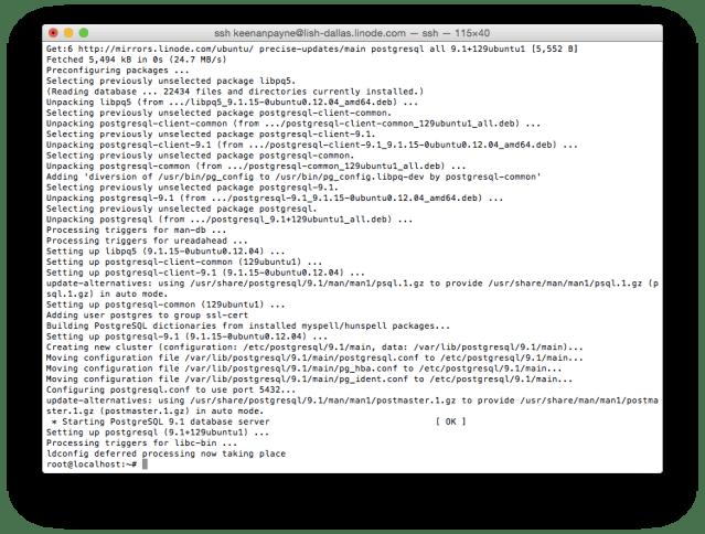 Installing PostgreSQL