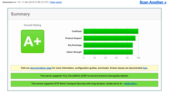 SSL Labs A+ Test on cPanel by Default on all domains - Tutorial / FAQ