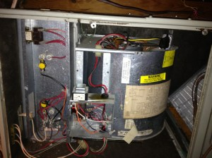 We have a Trane split system heat pump for our upstairs Below