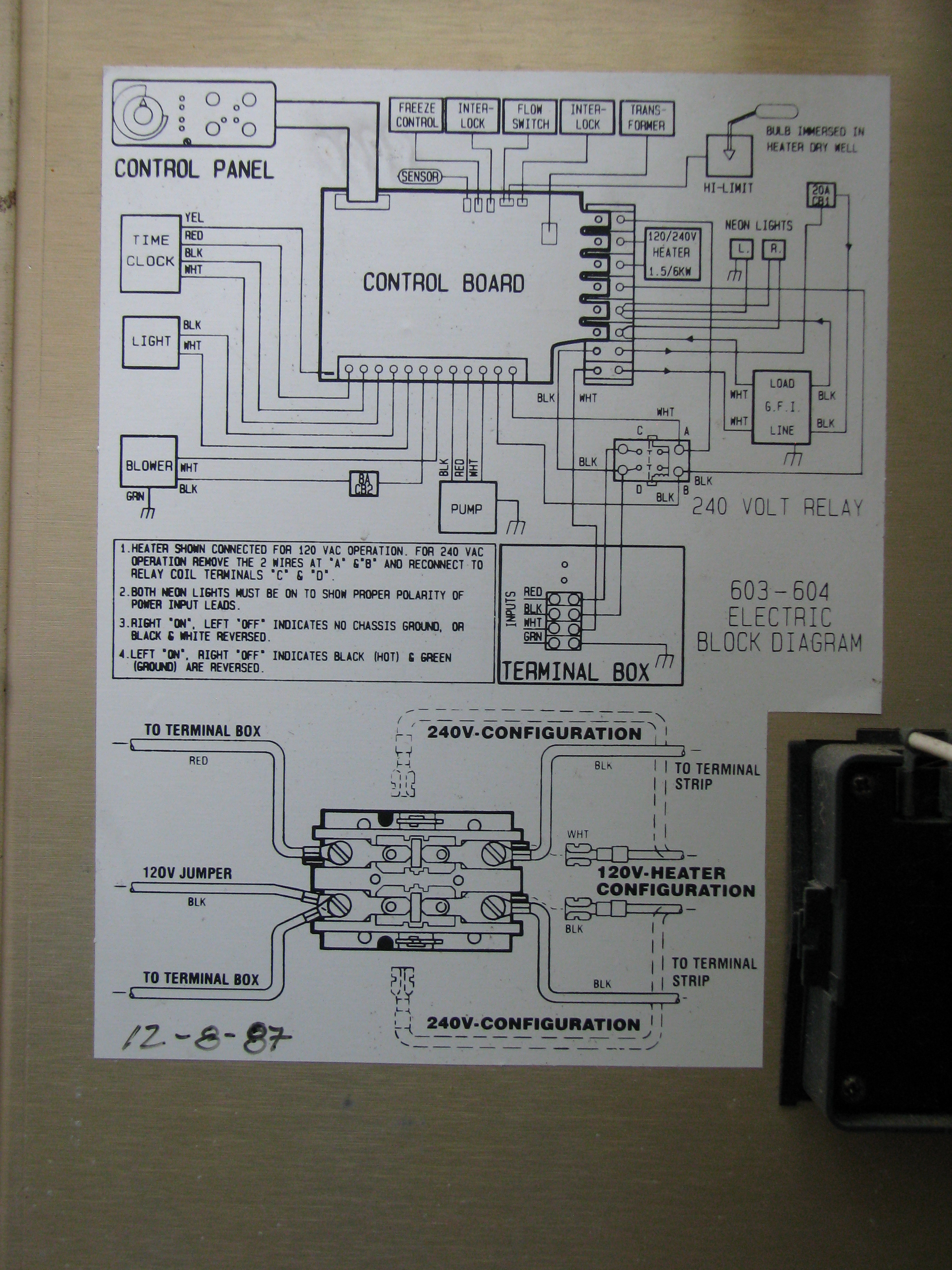 Snap Fantastic Wire Diagram 240v Hot Tub Image Wiring Diagram Ideas ...