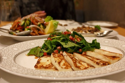 Halloumi with pomegranate salad at Mijana, The Ritz-Carlton Abu Dhabi