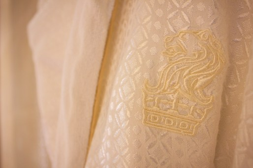 Plush robe details at The Ritz-Carlton Abu Dhabi