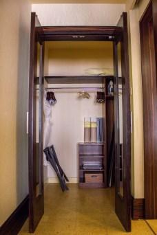 Wardrobe space at The Ritz-Carlton Abu Dhabi