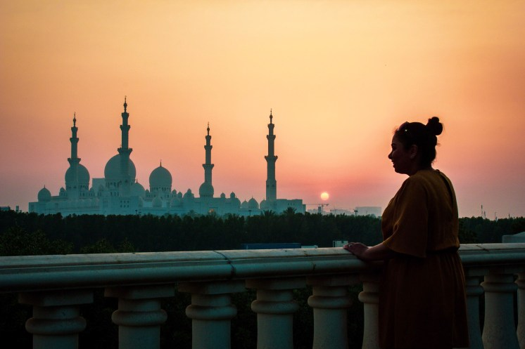 Sunset is a great time to visit this area of The Ritz-Carlton Abu Dhabi