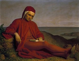 """Dante Alighieri in exile"" by Domenico Petarlini, 1860 [Pitti Palace, Florence, Italy]"