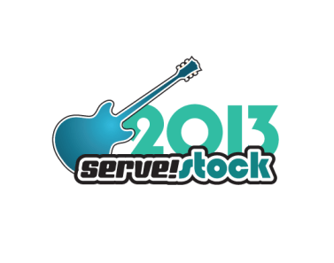 nonprofit logo and branding for servestock event