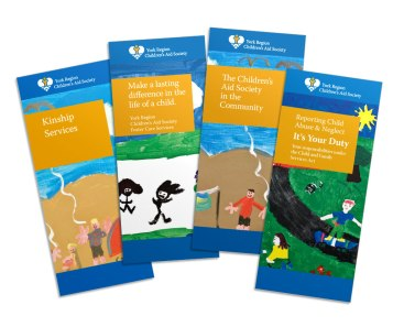 multilingual design system brochures nonprofit government childrens art work