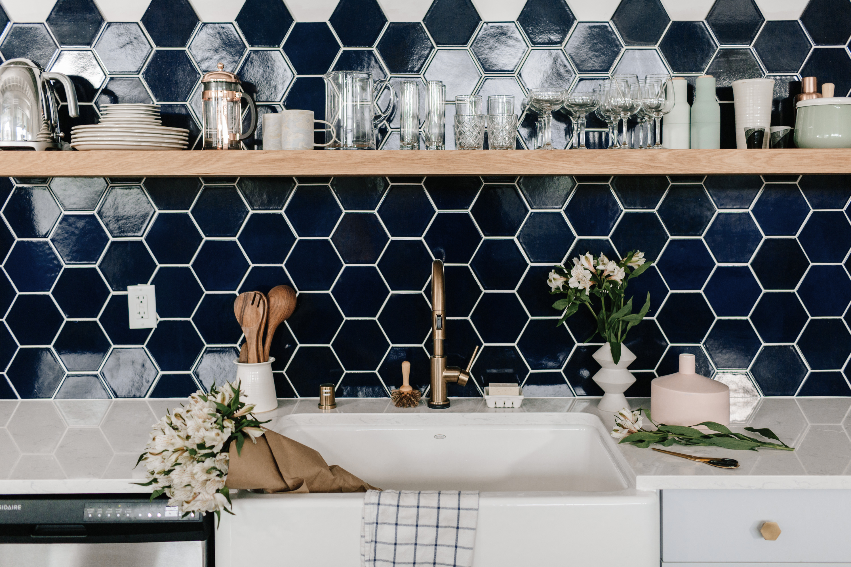 color spotlight navy blue fireclay tile