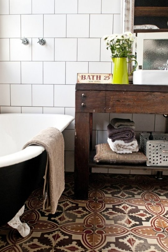 how to pair handpainted and field tile