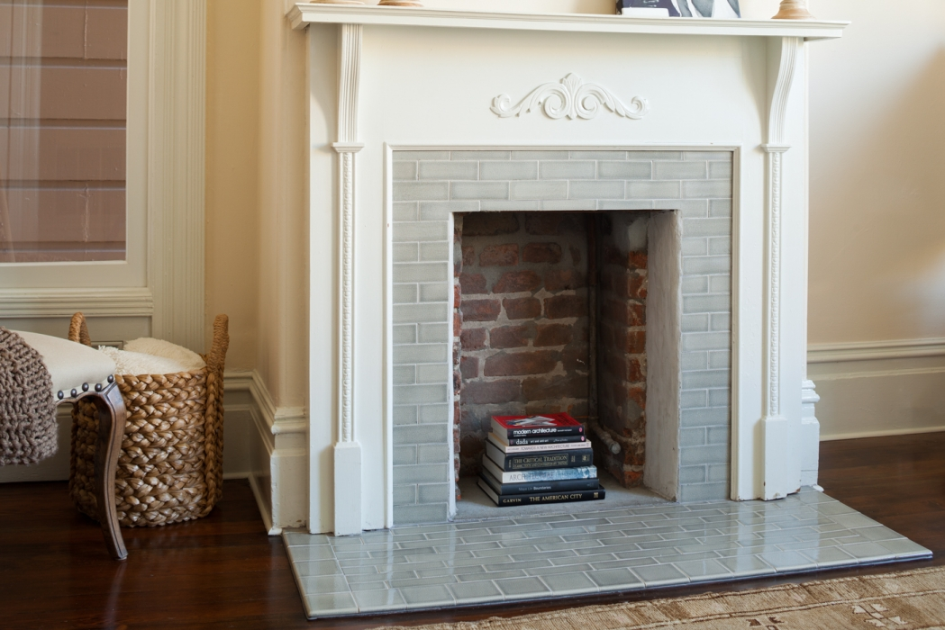 fireplace tile design from our kilns