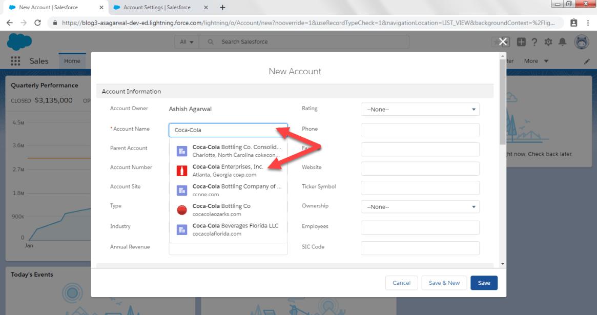 Accounts Logos in Salesforce