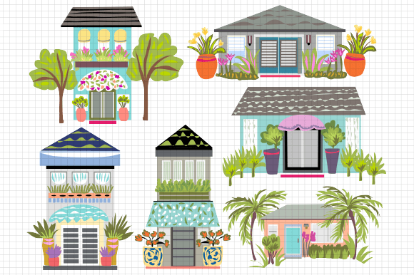 Whoville Houses Clipart