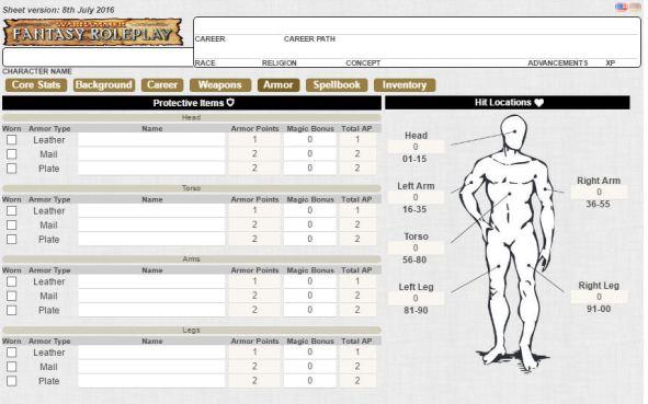 Resultado de imagem para warhammer fantasy character sheet