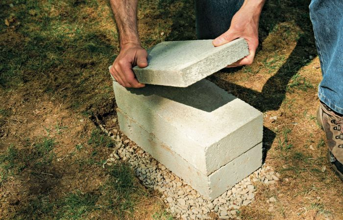 a firm foundation for a backyard shed