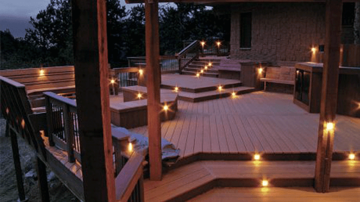 accent lighting for your deck fine