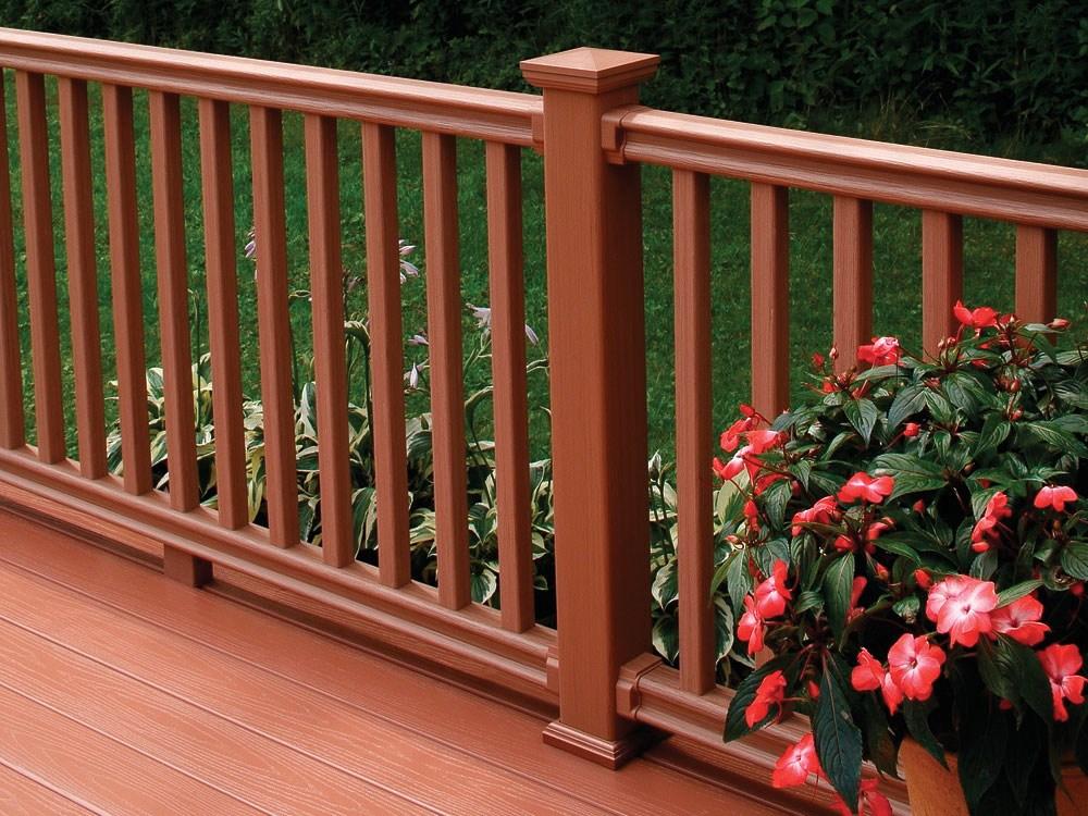 Durable Alternatives To Wood Deck Railings Fine Homebuilding   Wood Baluster Deck Railing   Temporary   Surface Mount   Pre Built   Side Mounted   Hardwood