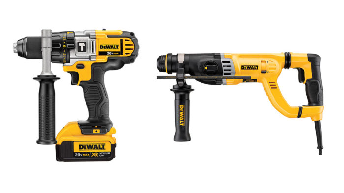 hammer action drills vs rotary hammers