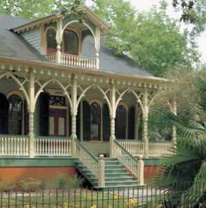 Adding the Perfect Porch   Fine Homebuilding The best way to make a porch feel at home on your home is to mirror  architectural details  Highly detailed post brackets echo and accentuate  the arched