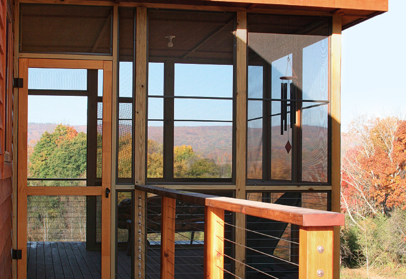 a simple screened porch fine homebuilding