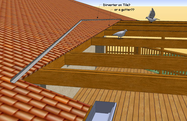 rain diverter for tile roof fine