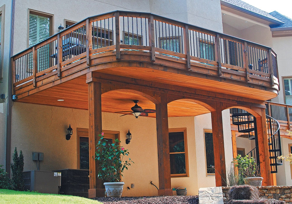 Second Floor Deck Ideas Fine Homebuilding | Outdoor Stairs To Second Floor | Rooftop Deck | Inside | Porch | Wide | Second Level