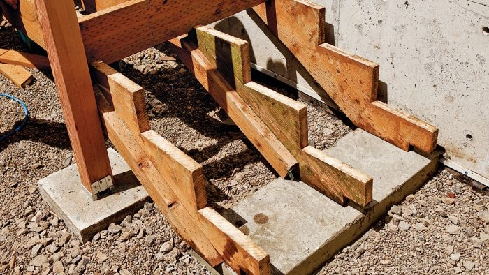 How To Install And Build Strong Stair Stringers Fine Homebuilding | Attaching Wood To Concrete Steps | Composite Decking | Handrail | Staircase | Screws | Deck Stairs