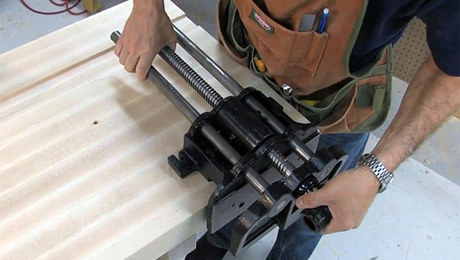 Installing A Woodworking Vise And Drilling Dog Holes