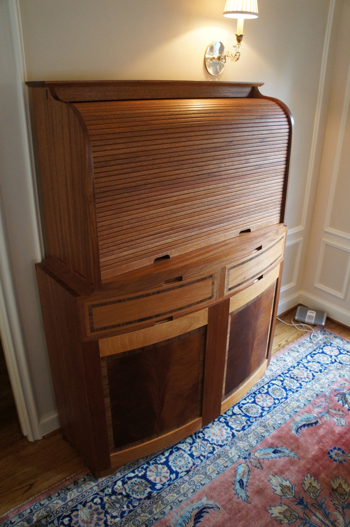 Roll Top Bar Cabinet FineWoodworking