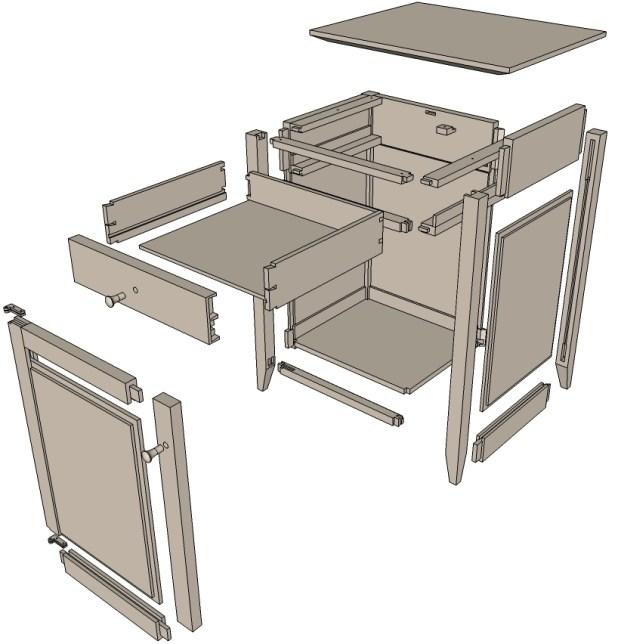 Kitchen Set Sketchup: Sketchup Cabinet Plans